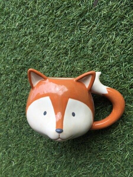 350 ml Mignon 3D Renard Tasse En Céramique Creative Café Lait Porcelaine Tasse Pour Enfants Cadeau Collection Limitée Livraison Gratuite