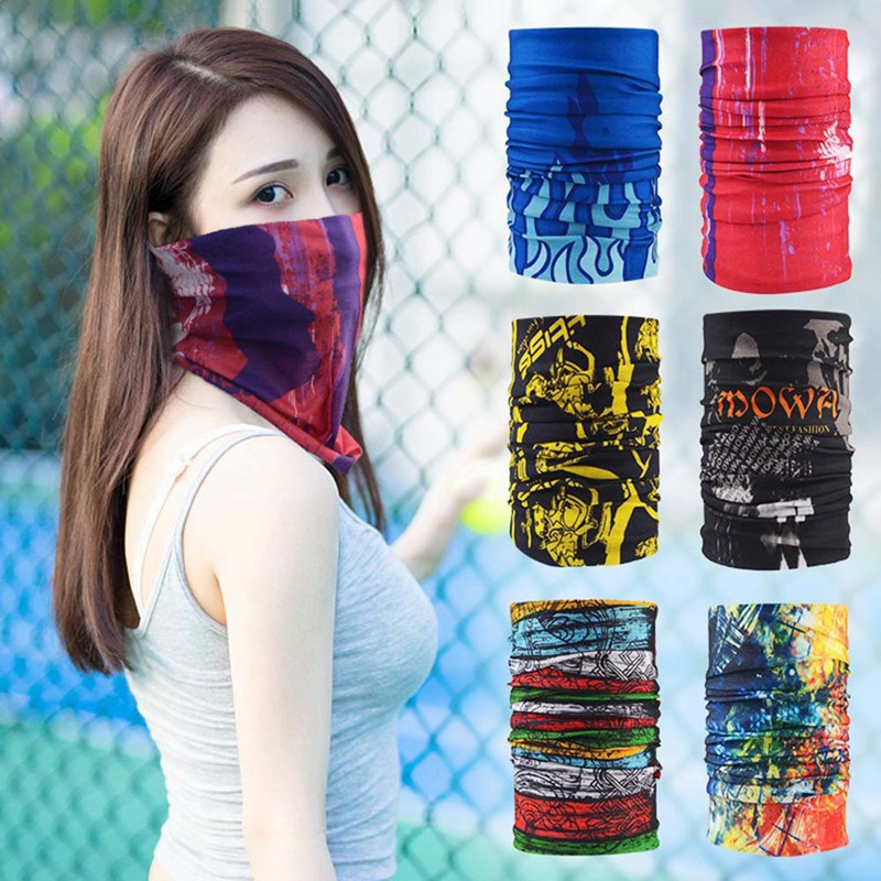 Home Logical Men Women Multi Functional Bandana Headband Cycling Outdoor Sport Camouflage Balaclava Tubular Seamless Magic Scarf Biker Mask
