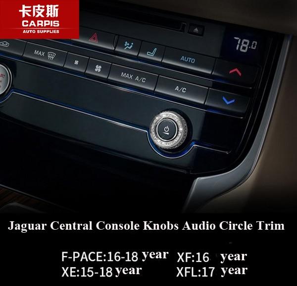 2017 Jaguar F Pace Interior: Chrome Car Center Console Audio Circle Cover Trim For
