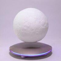 Магнитная Suspension3D печать Луны лампа Цвет изменить Спальня книжный шкаф ночник Домашний Декор креативный подарок