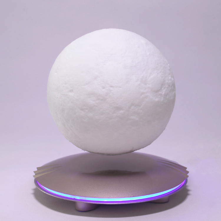 Magnetic Suspension3D Print Moon Lamp Color Change Bedroom Bookcase Night Light Home Decor Creative Gift