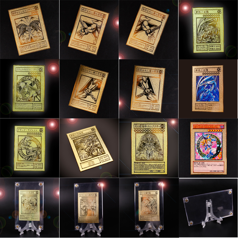 YU GI OH Gold Card Metal Card Local Japanese Golden Eye White Dragon VOL Edition Collection Card Kids Toy Gift fisher price soothe & glow seahorse