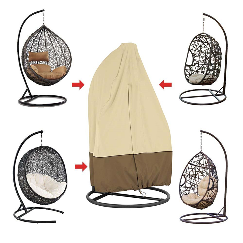 Double Swing Chair Waterproof Cover Rattan Swing Patio Garden Weave Hanging Egg Chair Seat Cover Anti-UV 232x203cm Hot Sale