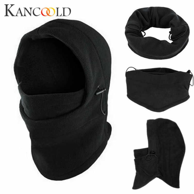 KANCOOLD القبعات الإناث قبعة مماشية للموضة الصلبة بالاكلافا دراجة نارية 6 في 1 الرقبة بالاكلافا الشتاء الوجه قبعة الصوف هود قناع للتزلج DEC22