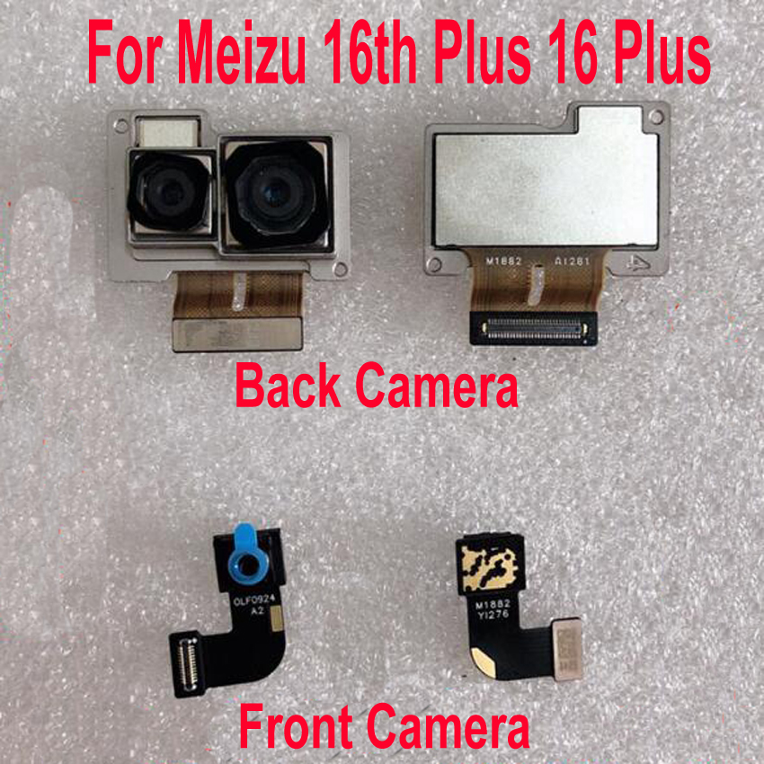 Original Best Working Small Facing Front <font><b>Camera</b></font> For <font><b>Meizu</b></font> <font><b>16th</b></font> Plus 16 Plus 16thPlus Big Main Rear Back <font><b>Camera</b></font> Flex Cable image