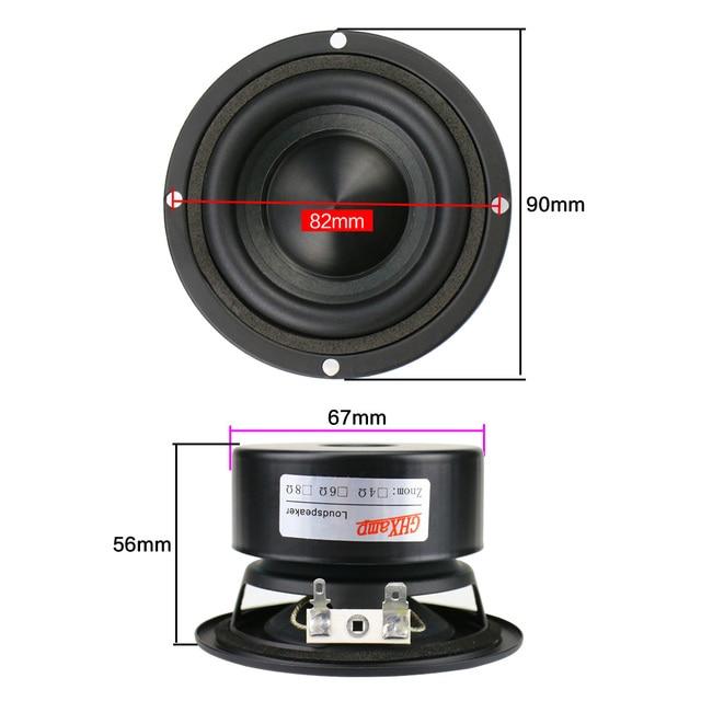 3 inch Woofer Speaker 8 ohm 25W 2pcs 6