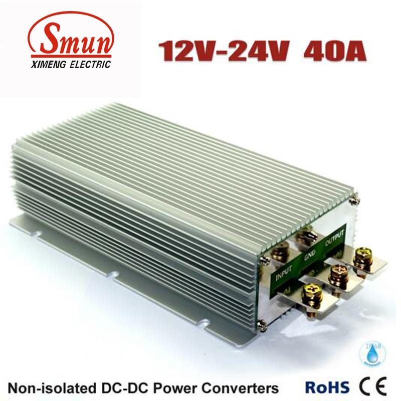 Convertisseur cc cc 12 V à 24 V 40A 960 W alimentation étanche pour voiture