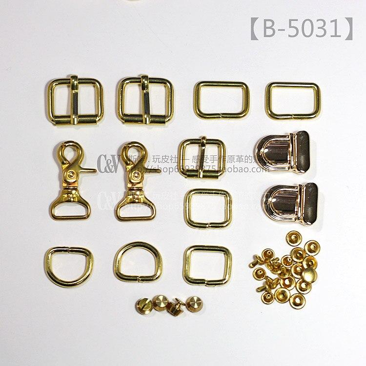 ᑎ‰T-B-5031 bolsa de cuero hecha a mano de DIY material hardwares ...