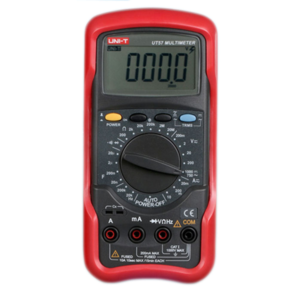 UNIT UT55 Digital Multimeter 1000V 20A DMM AC DC Voltage Current Resistance Diode Temperature Meter Tester Ammeter Voltmeter