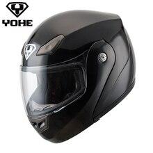 YOHE-YH-FF-936 полноценно Genunie Шоссейные Шлем ретро мотоциклетный Шлем шлем moto одного козырек Мотоцикл флип шлем