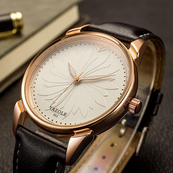 1f5075e0a4e YAZOLE 2017 Vestido de Negócios Relógio De Quartzo Das Mulheres Relógios  Senhoras Relógio de Pulso Marca Famosa Relógio Feminino Montre Femme Relogio  ...