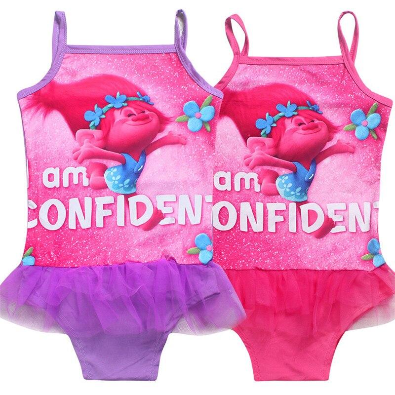 cartone animato di nuoto vestito per le ragazze costumi da bagno bambini costume da bagno trolls