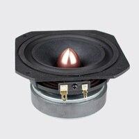 1 pair Aucharm 4inch HiFi Full Frequency Speaker Driver Cone Casting Aluminum Frame Aluminum Bullet 4ohm/15W Square
