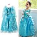 2017 Лето детская одежда девочек платья эльза платье принцессы для девочки младенческой дети эльза костюм партии детские анна одежда