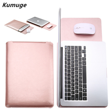 PU Leather Laptop Sleeve Bag for Xiaomi mi Air 12.5 13.3 Laptop Carry Bag for Xiaomi Air 12 13 inch Notebook Laptop Cover Case pu leather case cover for lenovo ideapad 510s 14 inch laptop bag notebook protective sleeve pen as gift