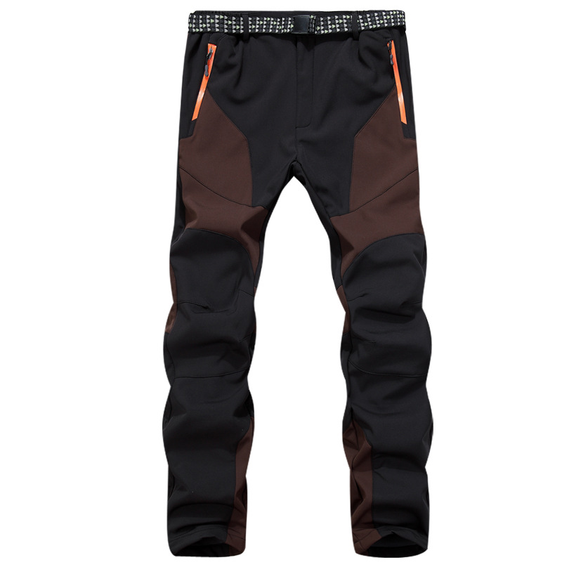 Winter Water Resistant Trekking Windbreaker Warm Trousers Cargo Softshell Outdoor Hiking Pants Men Climbing Pantalones Hombre