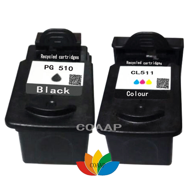 2PCS Compatible PG 510 CL 511 Ink Cartridge For Canon Pixma MP280 MP480 IP2700 MP240 MP250