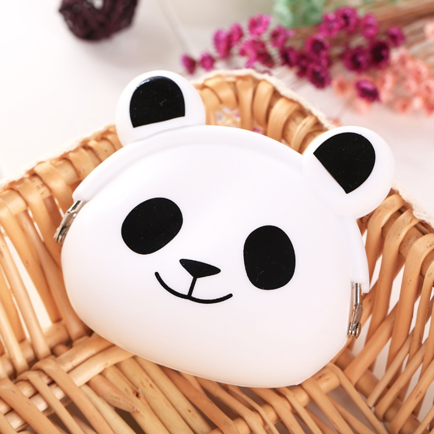 2018 New Girls Mini Silicone Coin Purse Animals Small Change Wallet Purse Women Key Wallet Coin Bag For Children Kids Gifts # F