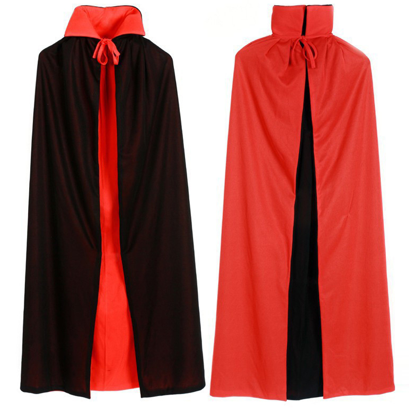 New Halloween Cloaks   Trench   Double Color Red Black Purim Carnival Adult Elf Witch Long Coat Halloween Costumes For Women Men