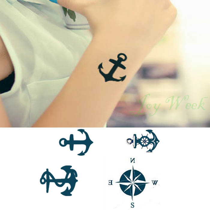 Online buy wholesale anchor tattoo from china anchor for Temporary tattoo sticker