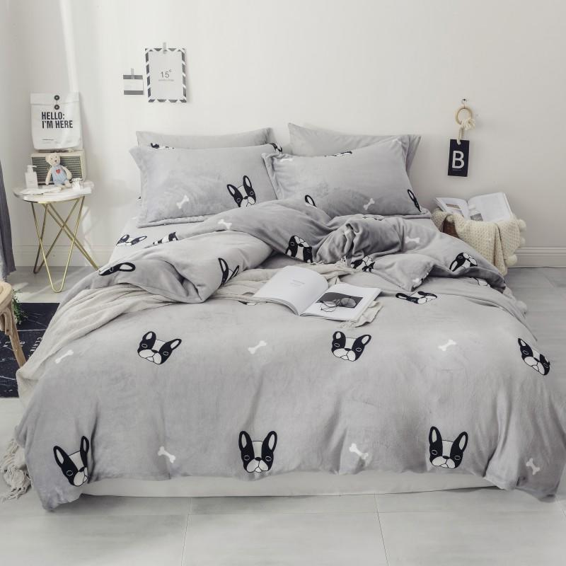 Fleece Winter Twin Queen size Bedding Set Bed sheet Fitted sheet for Kids Warm Duvet cover Bed set parrure de lit ropa de cama Fleece Winter Twin Queen size Bedding Set Bed sheet Fitted sheet for Kids Warm Duvet cover Bed set parrure de lit ropa de cama