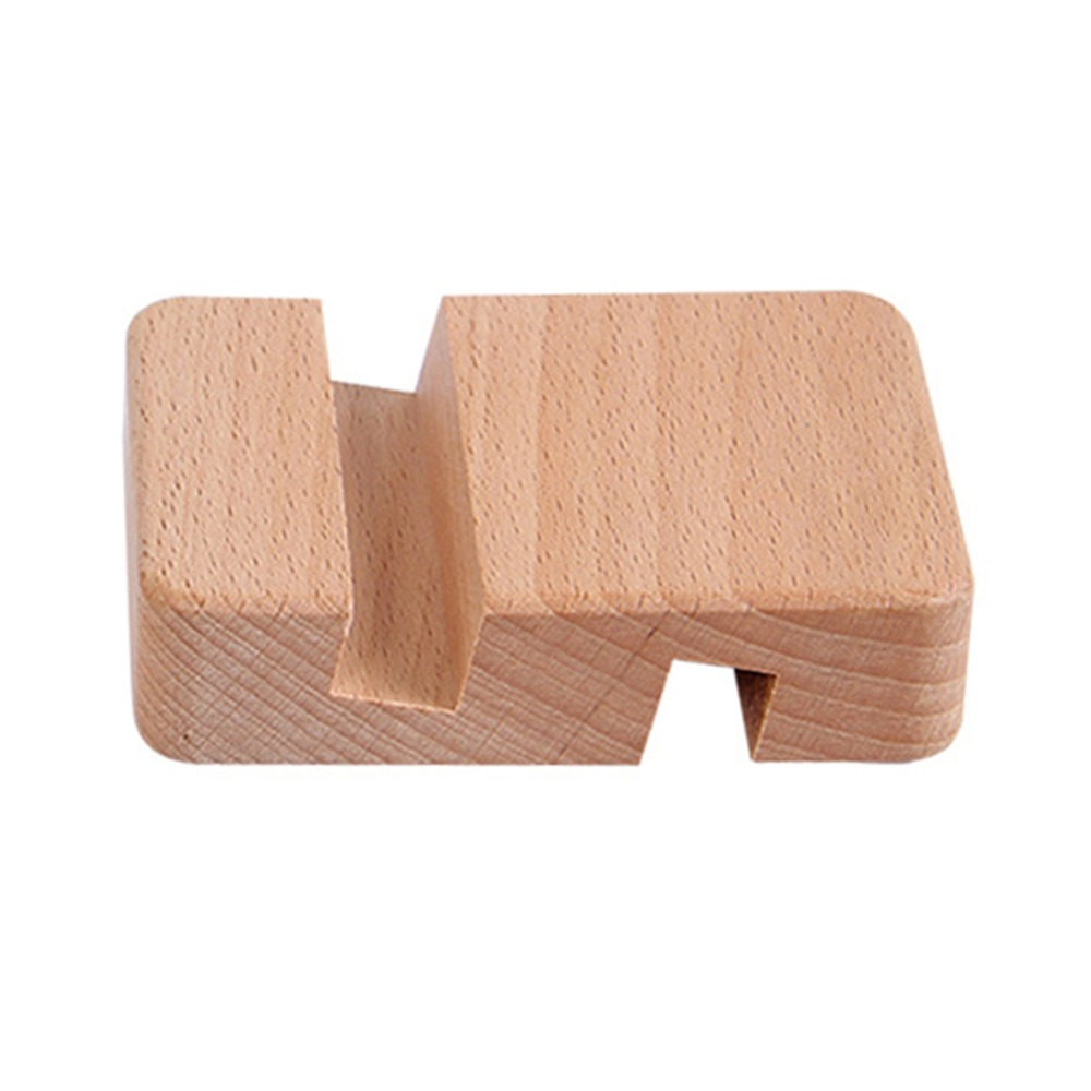 Wooden Mobile Phone Stand 8*6*2cm Phone Holder Stands For IPhone For Samsung Pad Tablet Stand Desk Phone Rack