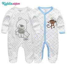 3bc6cbe314843 2   1 Pcs Vêtements Ensembles de bébé Garçon et Fille Footies Pyjamas  D origine D été Nouveau-Né 3 6 9 12 mois Coton de Nuit Vêt..