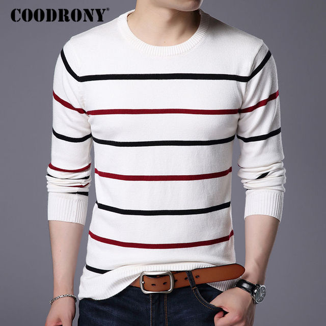 COODRONY O-Neck Pullover Men Sweater 3