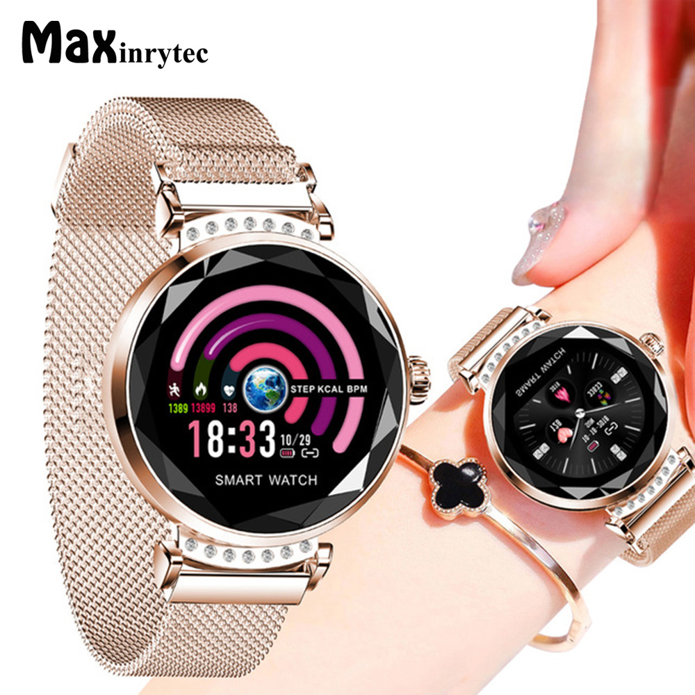 Maxinrytec H2 Smart Watch for Women Lovely Bracelet Heart Rate Monitor Sleep Monitoring Smartwatch connect IOS