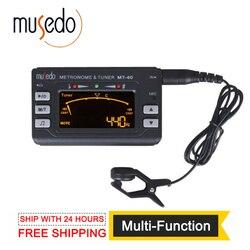 Musedo MT-40 الغيتار موالف الرقمية الالكترونية 3 في 1 LCD الغيتار/باس/الكمان/القيثارة موالف المسرع لهجة مولد موالف كليب