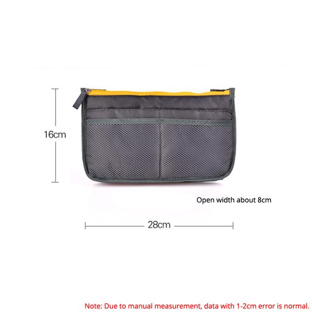 Multicolor 2018 New Women Comestic Organizer Bag In Bag Double Zipper Portable Multifunctional Travel Pockets Handbag Makeup Bag