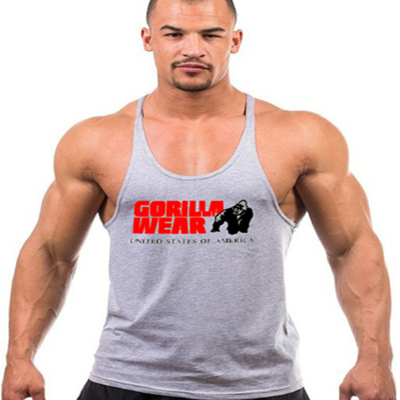 f23d0c1b906d6 New Gorilla Wear Singlets Gymshark Male Universal Bodybuilding Tank Top Male  Muscle Golds Stringer Cotton Tank Tops Clothes on Aliexpress.com