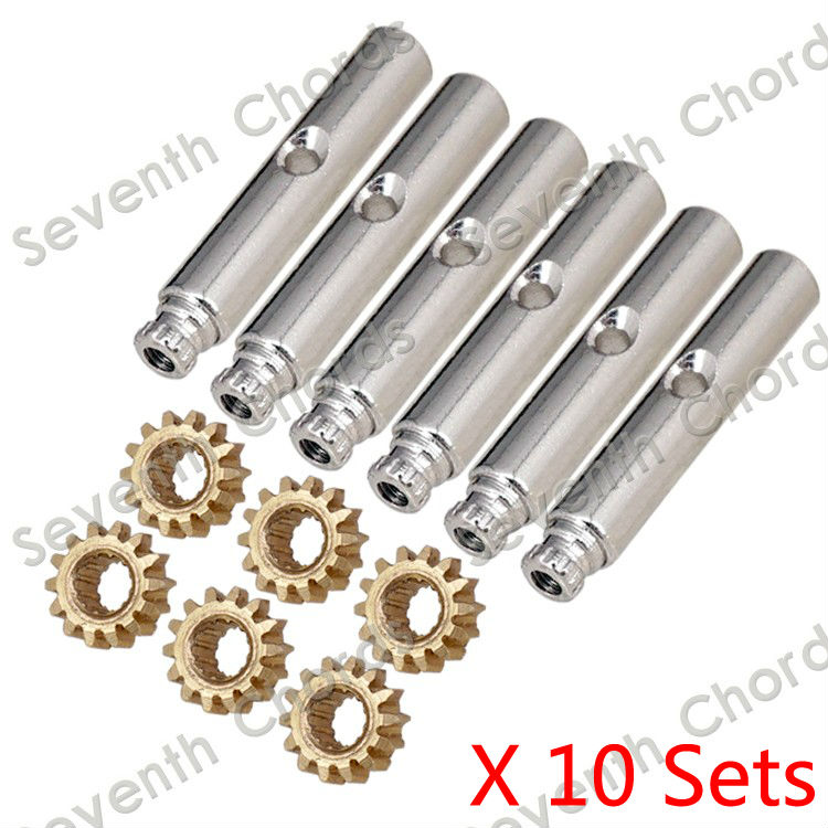 10 sets guitar tuning pegs tuners machine heads brass gear. Black Bedroom Furniture Sets. Home Design Ideas