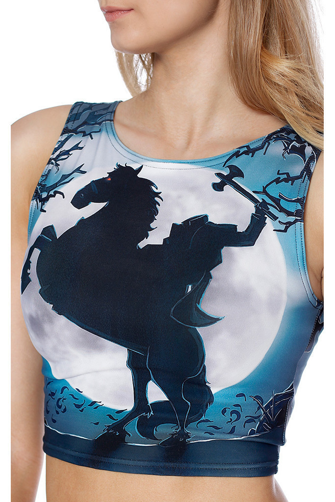 Women Moonlight Horse Tank Tops Sexy Sleeveless T Shirt Clothes Yoga Gym Running Lady Vests Camisole Digital Print High Elastic
