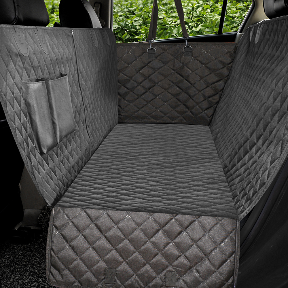 Dog Car Seat Cover Side Flap Luxury Quilted Car Travel Pet Carrier Bench Seat Cover Waterproof Nonslip With Zipper and PocketsDog Car Seat Cover Side Flap Luxury Quilted Car Travel Pet Carrier Bench Seat Cover Waterproof Nonslip With Zipper and Pockets
