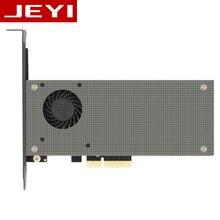 JEYI SK9 m.2 расширения NVMe адаптер NGFF отложным воротником PCIE3.0 Вентилятор охлаждения SSD двойной добавить на карту SATA3 с вентилятором Алюминий крышка емкость