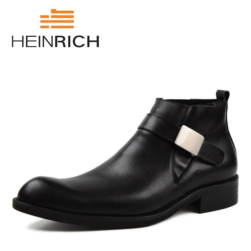 Tornozelo D' Outono Homens Da 2018 Quentes Água À Botas Couro Prova Black Moda Chuteira Confortáveis De Macio Heinrich Sapatos 8q7axww