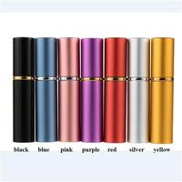 free shipping 5ml 8.5*1.8cm aluminum colored perfume spray bottle,liquid cosmetics packing bottle