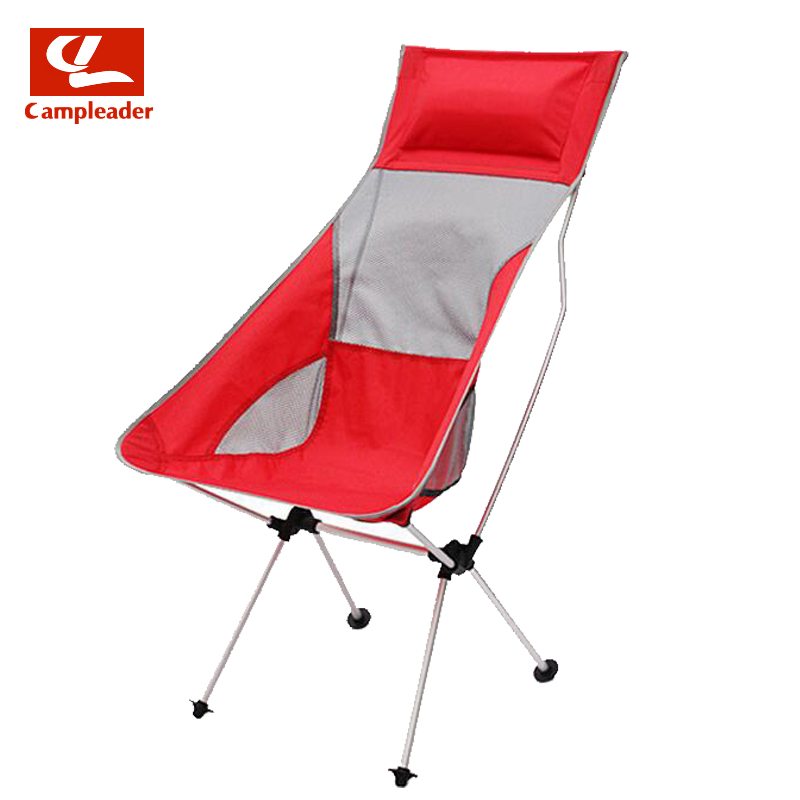 Campleader Outdoor Fishing Chair Barbecue Painting Portable Backrest Chair Folding Chair Camping Beach Stool CL193 costway outdoor aluminum alloy backrest stool camping folding chair oxford cloth fishing chair portable beach chair w0263