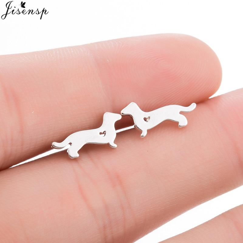 Jisensp Earings Fashion Jewelry Lovely Dachshunds Dog Stud Earrings For Women Kids Gift Korean Style Animal Cute Earrings Bijoux