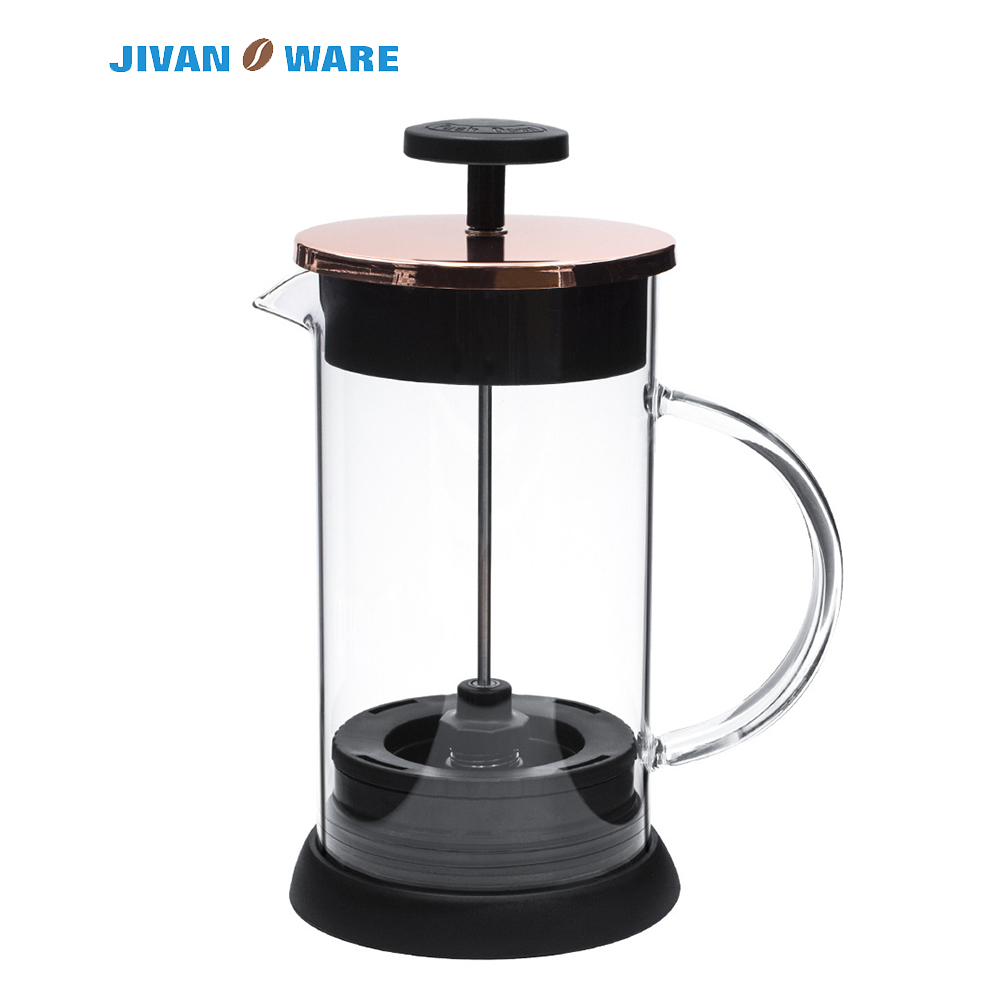 JIVANWARE 32oz 1L French Press Coffee Pot Tea Filter Glass Kettle Clean No Sediments Coffee Maker Creative Coffee Cup Tea Brewer