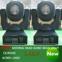 New Arrive 60W Led Spot Moving Head Beam Light Disco Dj DMX512 Rgbw Professional Stage Gobo