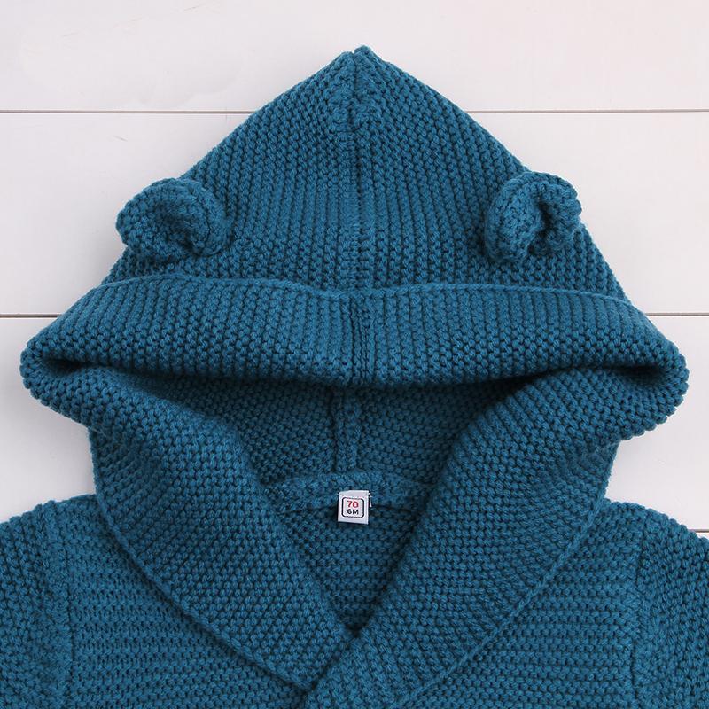 48f25b0da Baby Sweater Baby Girls Cardigan With Ears Newborn Boys Knitted ...
