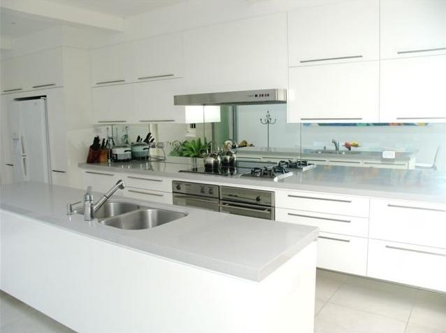 Australian White High Gloss Kitchen Furniture Design
