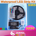 12V 5050 5m waterproof led light strip+power adapter,44 keys RGB color will with IR controller,warm white/blue/red/Green/Yellow