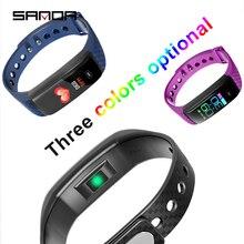 SANDA smart watch waterproof sports for iPhone mobile Bluetooth bracelet heart rate monitor blood pressure