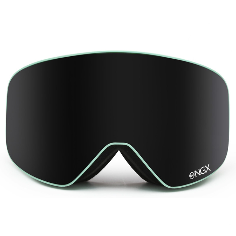 NANDN Professional hommes et femmes lunettes de Ski Double couche lunettes de Ski grandes sphériques antibrouillard coupe-vent lunettes de Ski avec étui