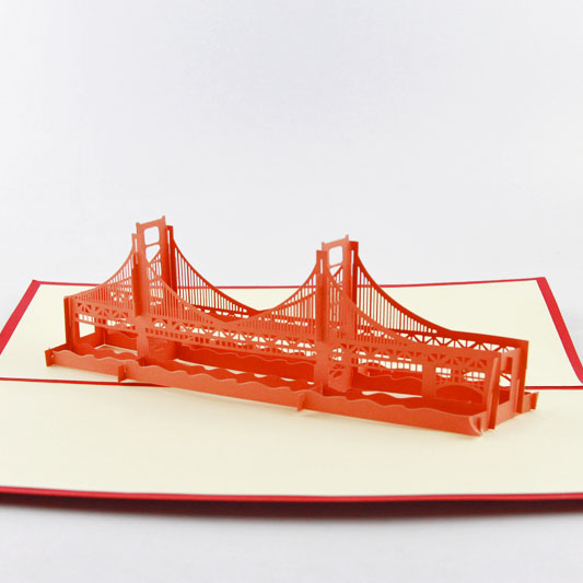 Brooklyn Bridge pop up card/ 3d New York souvenir cards music card spiral pop up musical notes 3d card music instruments pop up card bday pop up card