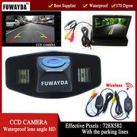 FUWAYDA Wireless Car CCD RearView Camera for Honda Accord Pilot Civic Odyssey Acura TSX,with 4.3Inch foldable LCD TFT Monitor HD
