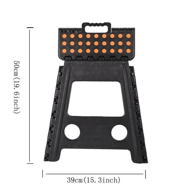 Folding Step Stool Super Strong 15 Inch Portable Carrying Handle Chair for Adults and Kids